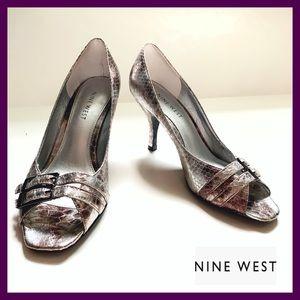 Nine West Open toes Metallic Shoes